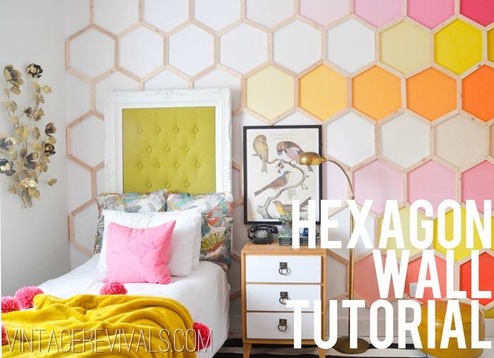 Hexagon Wall Tutorial: DIY Project {Vintage Revivals}