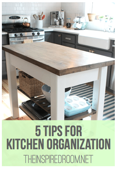 Kitchen Organization {My 5 Favorite Tips}