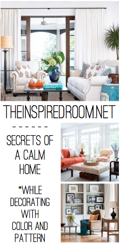 secrets of a calm home while decorating with color and pattern