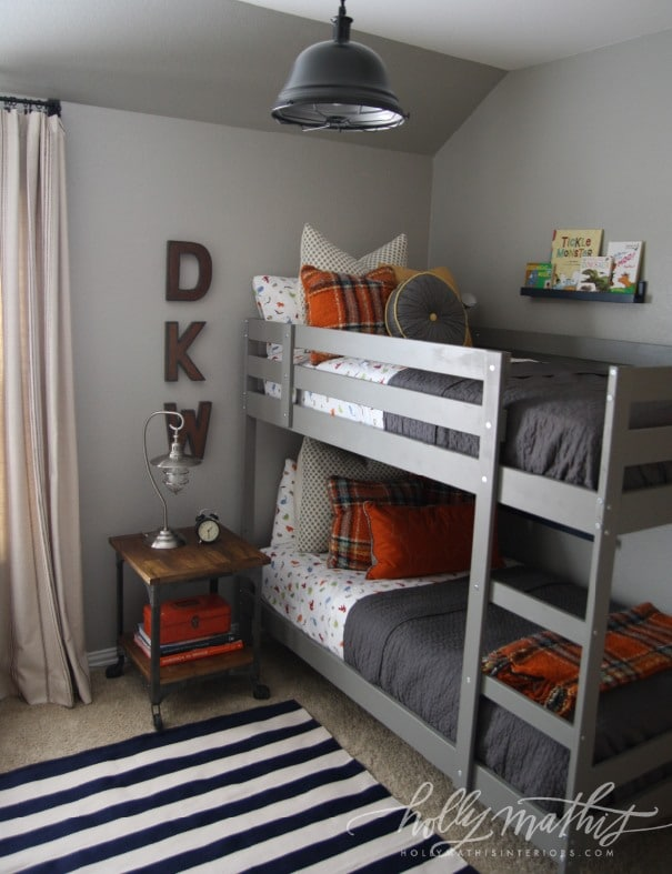 Shared Bedroom for Boys {Holly Mathis Interiors}
