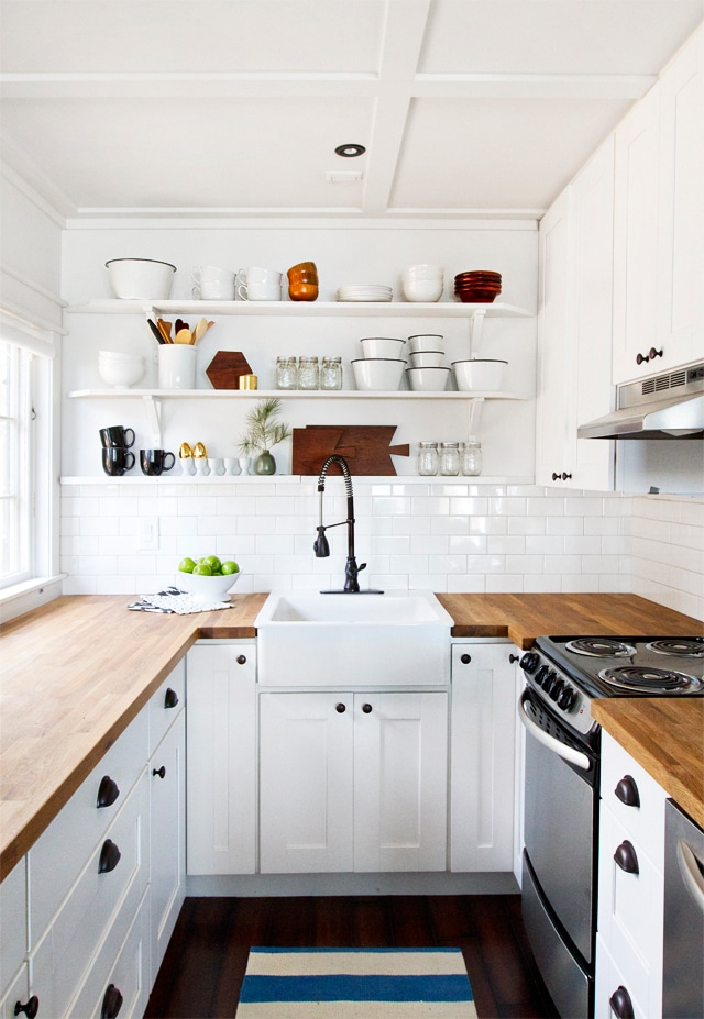 Inspired Rooms} Small White Kitchen Remodel - The Inspired Room