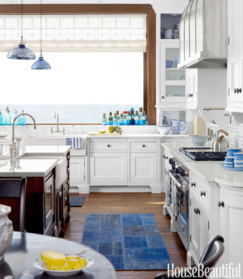 Eclectic White Kitchen: {For The Love Of Kitchens} Blue & White Kitchen