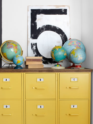 painted furniture yellow file cabinets