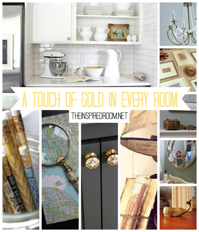 Add a touch of gold to every room
