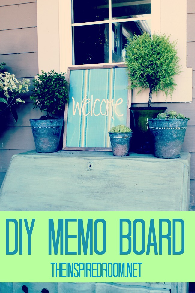 Cute 5 Minute DIY Memo Board {ditto DIY}