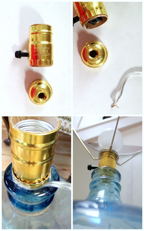 How to Make a Lamp {DIY Bottle Lamp}