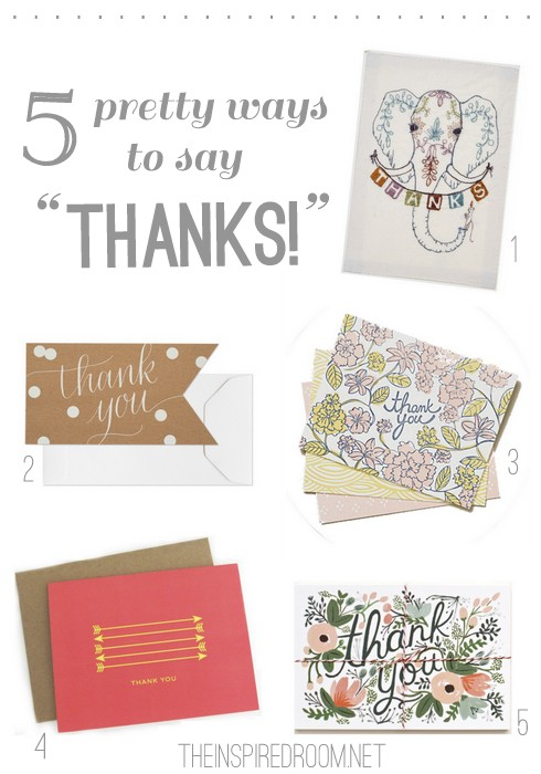 A cute thank you card round up