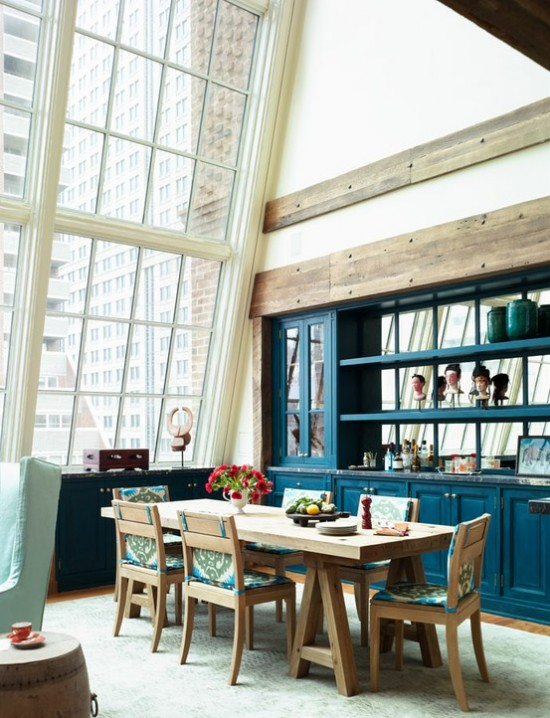 Decorating with blue dining room inspiration the for Home decorations nyc