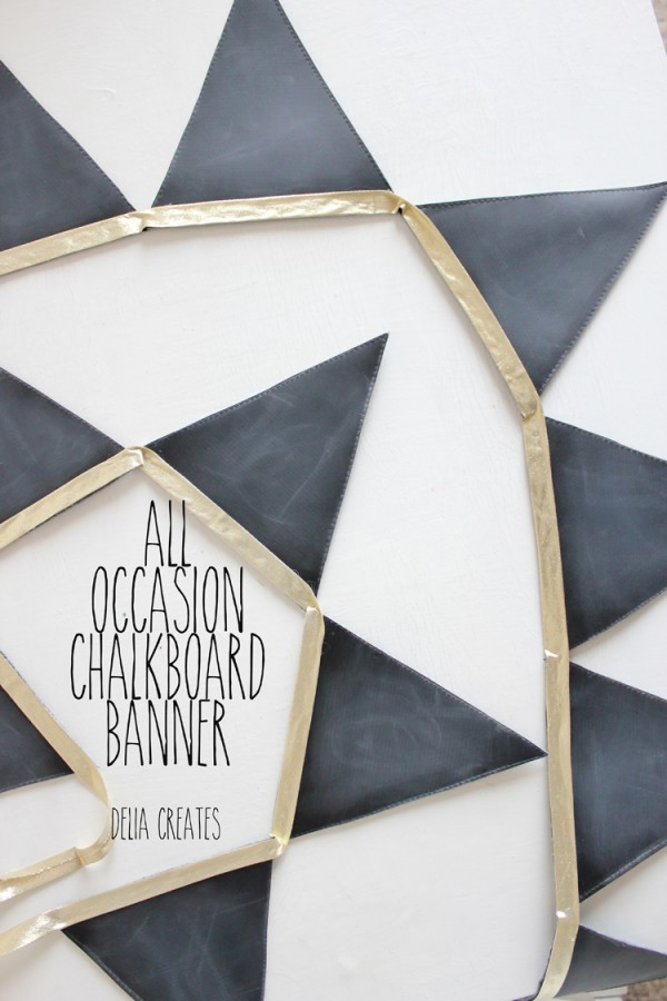 All-Occasion Chalkboard Bunting {Delia Creates}