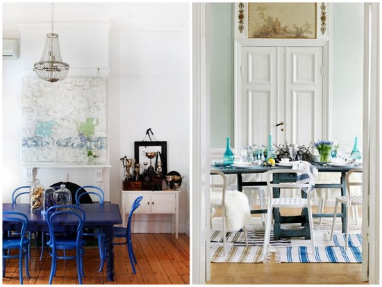 Decorating with blue dining room inspiration the for Dining room inspiration