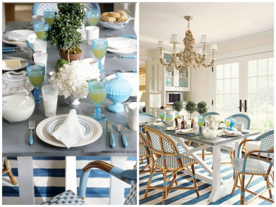 Decorating with Blue: Dining Room Inspiration