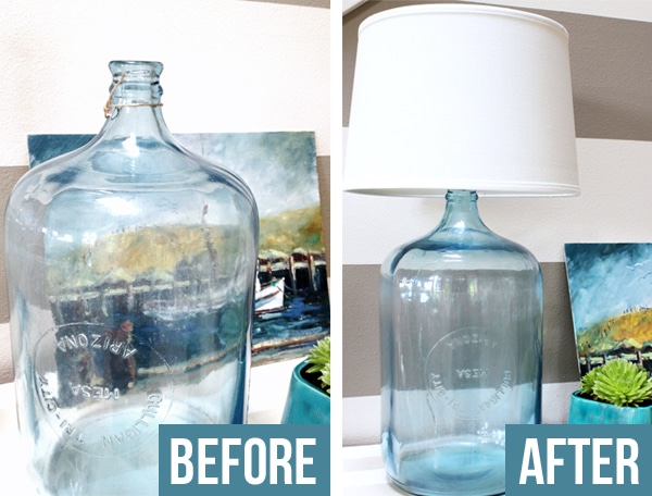 Perfect How to Make a Lamp {DIY Bottle Lamp} - The Inspired Room KO46