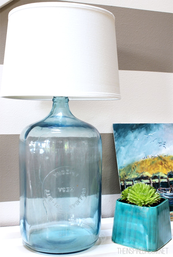 diy bottle lamp, the inspired room