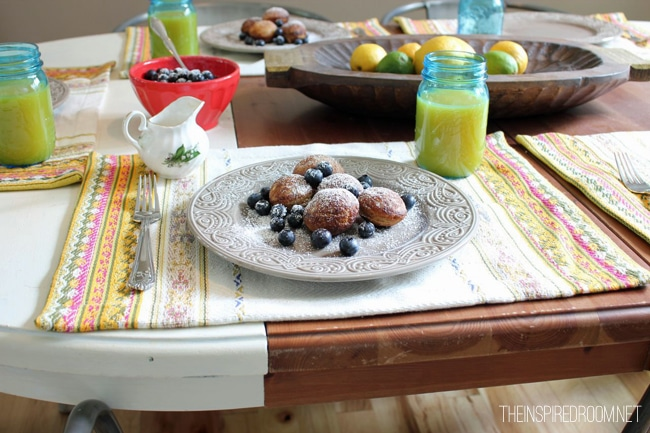 {Breakfast Ideas} Ebelskivers with Cinnamon Apple Syrup