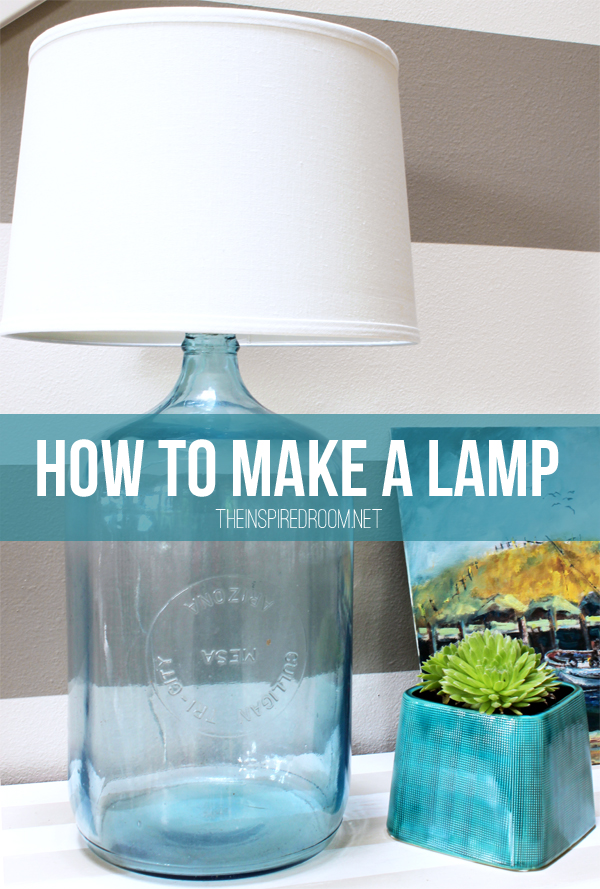How to make a lamp diy bottle lamp the inspired room for Lamps made out of wine bottles