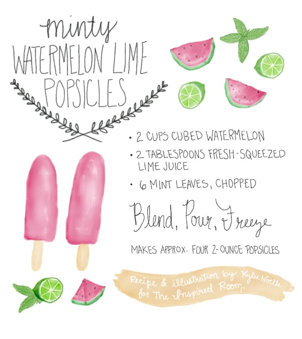 Popsicle Recipe {Minty Watermelon Lime Fruit Pops}