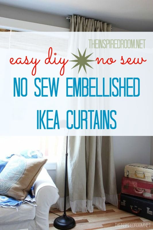 {Easy DIY} No Sew Embellished IKEA Curtain Panels | The ...