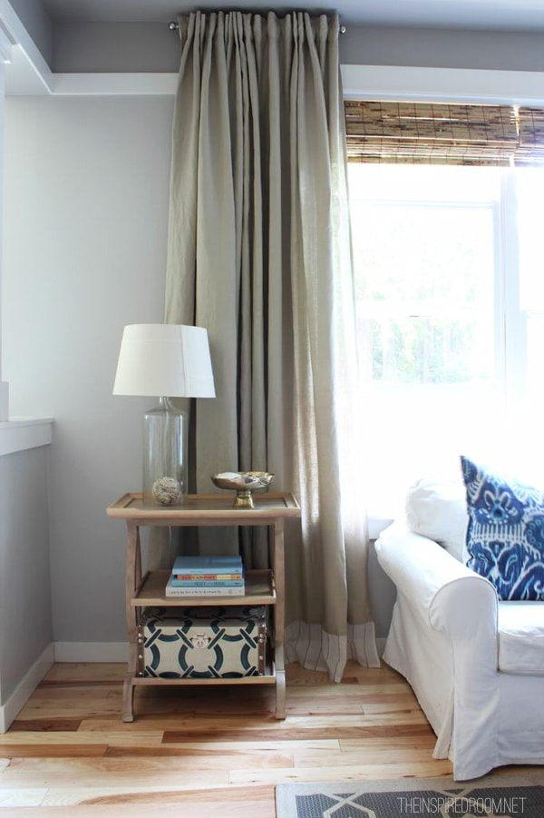 DIY Curtain embellished IKEA panels