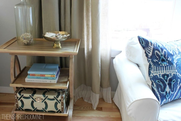 {Easy DIY} No Sew Embellished IKEA Curtain Panels