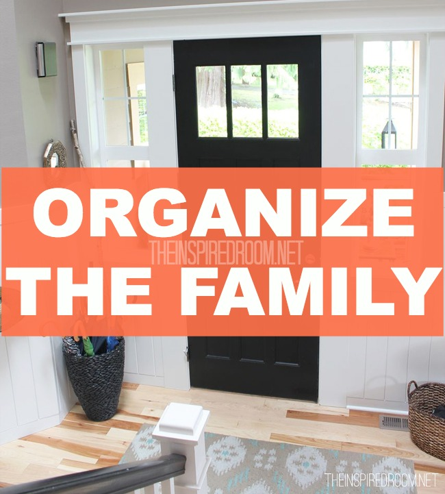 Organize the Family {at the Front Door}