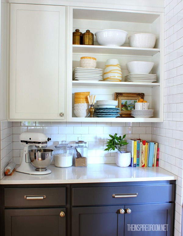 Dish Addiction {Display Dishes on Open Shelves}