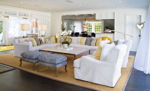 10 Tips For Styling Large Living Rooms {& Other Awkward Spaces