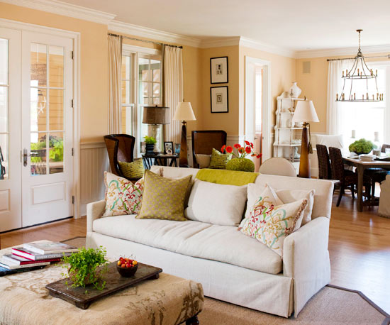 Seating Ideas For A Small Living Room: 10 Tips For Styling Large Living Rooms {& Other Awkward