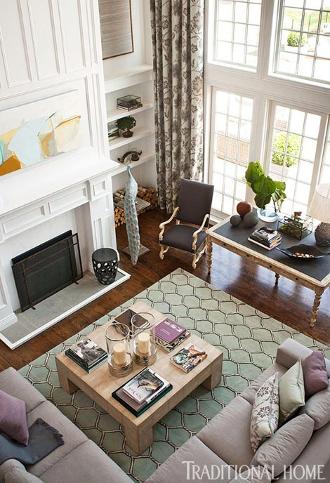 Living Room With Two Large Coffee Tables
