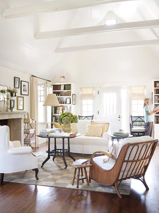 10 Tips for Styling Large Living Rooms u0026 Other Awkward Spaces : 4 chair living room arrangement - Cheerinfomania.Com