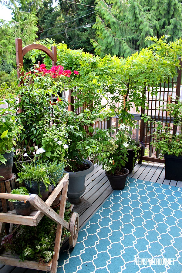 My Small Backyard Deck Makeover {Before & After}