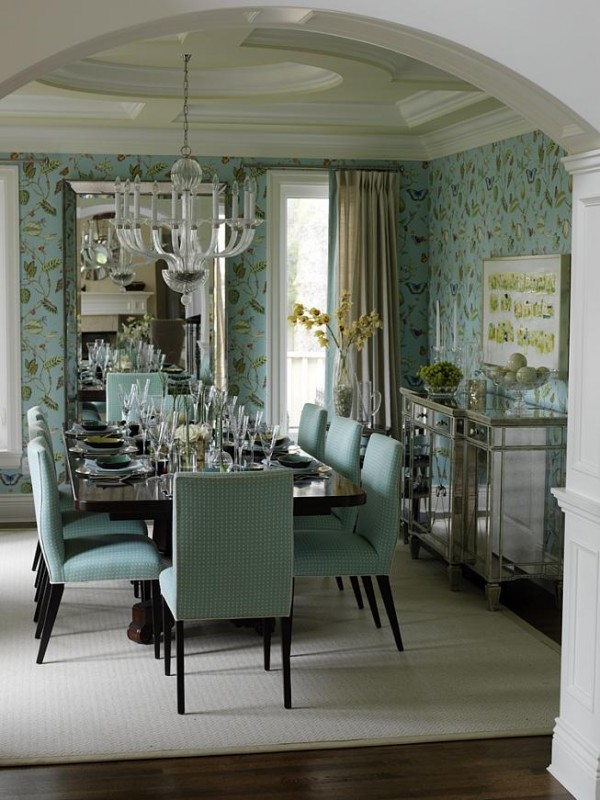 Beautiful Blue Dining Rooms: Rooms That Inspire {Sarah & Tommy}