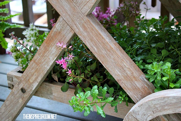 Teacart Plant Stand {and a new finish on the deck!}