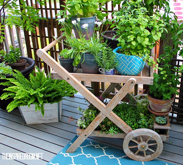 teacart patio planter