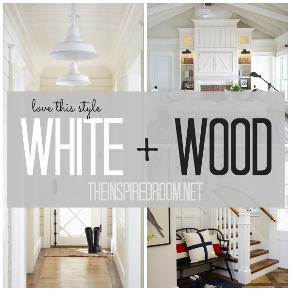 white and wood cottage style