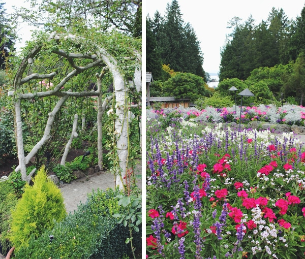 Butchart Gardens Arbor and Flowers