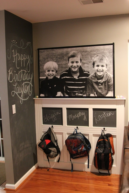 Back to school organization create a backpack wall the inspired