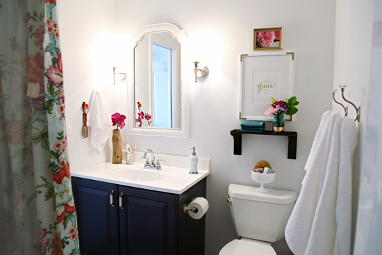 diy small bathroom makeovers inspired rooms pretty bathroom makeover the inspired room 18161