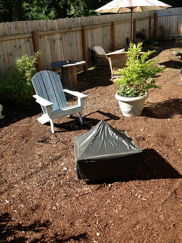 new pea gravel patio project  backyard inspiration  the, Backyard Ideas