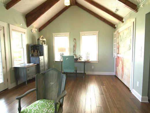 blog cabin family room