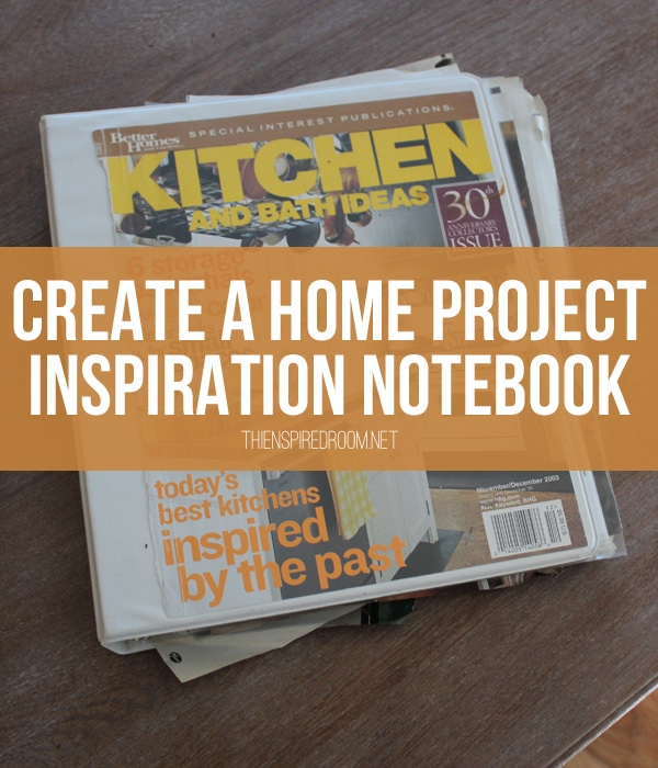 diy home decorating inspiration notebook
