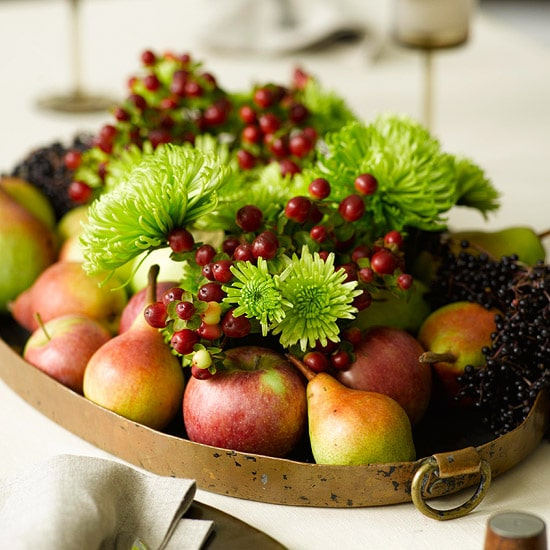 fall tray centerpiece