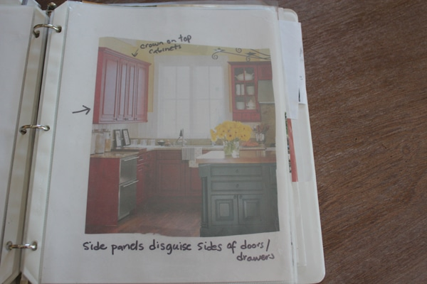 kitchen ideas notebook
