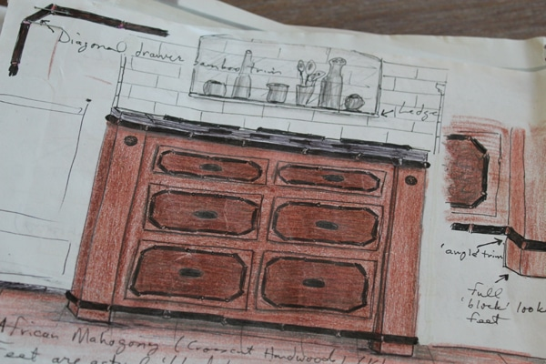 kitchen stove sketch