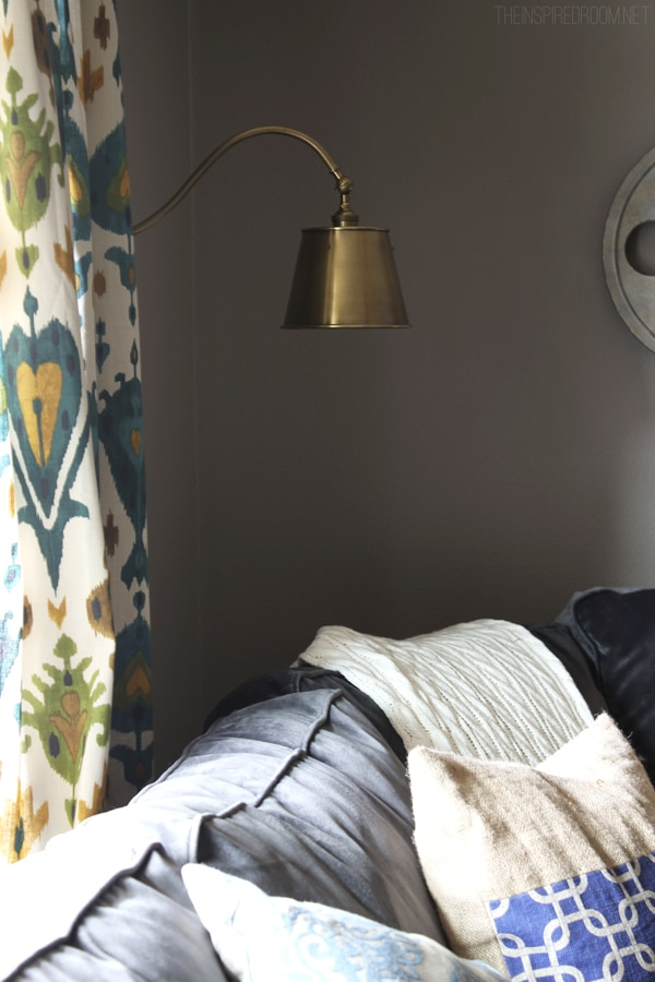 Wall Sconces For Media Room : Creating Ambience {New Wall Sconces in the Media Room} - The Inspired Room