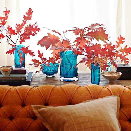 natural decorating for fall