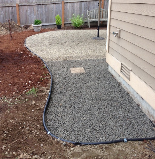 Progress On A Fall Backyard Project: The Pea Gravel Patio!