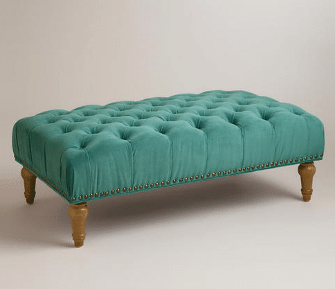Tufted Ottoman For The Family Room The Inspired Room