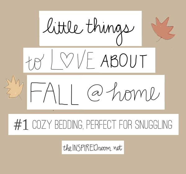little things i love about fall @ home {my bedroom} - the
