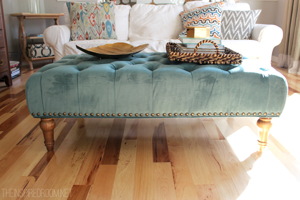 Tufted Ottoman For The Family Room