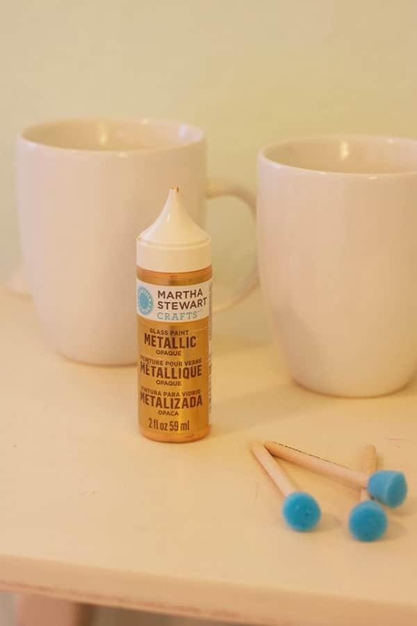 DIY polka dot tea cups